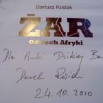 """Dedykacja dla Anki """"Dzikiej Baby"""" od Dariusza Rosiaka"""